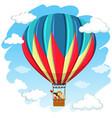 children in hot air balloon vector image