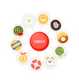 circle and round objects for children vector image