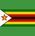 close up flag zimbabwe vector image vector image