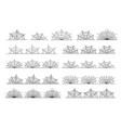 cobweb border black horror abstract frames vector image