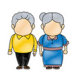 cute grandpa and grandma parents standing together vector image vector image