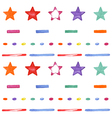 Cute seamless pattern with colored stars Happy vector image vector image