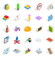 educational institution icons set isometric style vector image vector image