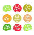 fat free logos set vector image vector image