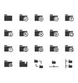 folder related icon set vector image vector image