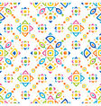 Funny shapes colorful pattern vector image vector image