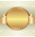 Gold oval frame vector image