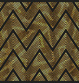 gold zigzag stripes pattern vector image vector image