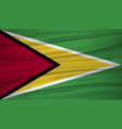 guyana flag flag of guyana blowig in the wind vector image