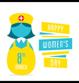 happy womens day women nurse profession design vector image