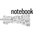 is notebook a better choice than desktop vector image vector image