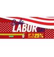 Labor Day Sale 6250x2500 pixel Banner vector image vector image