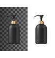 liquid soap realistic black bottle vector image vector image