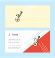 love guitar abstract corporate business banner vector image vector image