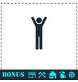 man icon flat vector image vector image