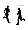 man in Running pose on white background vector image vector image