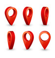map pointer 3d pin location symbols set vector image vector image