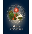 Merry Christmas design concept vector image