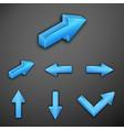 metallic arrows vector image vector image