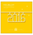 new year poster 2016 line art design vector image