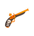 old flintlock pistol ancient weapon vector image vector image