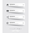 Papercut infographic vector image vector image