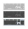 Photo-realistic Keyboards Set vector image