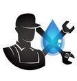 plumber symbol vector image vector image