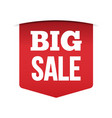 red banner big sale vector image vector image