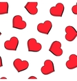 Red hearts seamless pattern Good for textile and vector image vector image