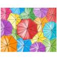 red umbrella in the colored umbrellas - pattern vector image vector image