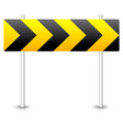 road construction road sign roadblock bypass vector image