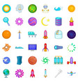 rocket icons set cartoon style vector image vector image