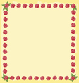 roses flourishes frame vector image
