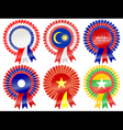 rosettes south east asia vector image