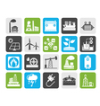 Silhouette Electricity and Energy source icons vector image vector image