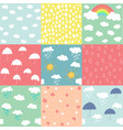 spring pattern set vector image vector image