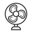 table fan line icon household appliance vector image vector image