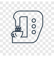 tap concept linear icon isolated on transparent vector image