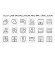 tile floor installation and material icon set vector image vector image