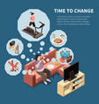 time to change background vector image