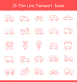 Transport icons Thinline Stroke
