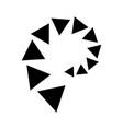 triangle line divider design footer modern border vector image vector image