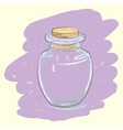 Vintage glass jar vector image