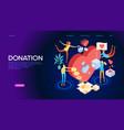 Volunteering concept isometric banner
