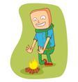 warming campfire vector image vector image