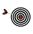 Darts board and darts arrow vector image