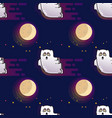ghost seamless pattern cute cartoon fluing ghost vector image