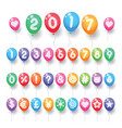 numbers and symbols balloons vector image