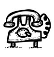 cartoon image of phone icons set telephone vector image